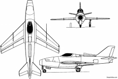 ambrosini aerfer ariete 1958 italy model airplane plan