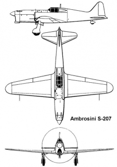 ambrosini s207 3v model airplane plan