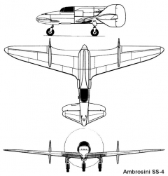 ambrosini ss4 3v model airplane plan