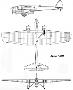 amiot143 3v model airplane plan