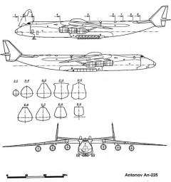 an225 1 3v model airplane plan