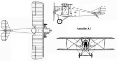 ansaldo a1 3v model airplane plan