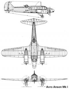 anson 1 3v model airplane plan