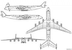 antonov 225 myria model airplane plan