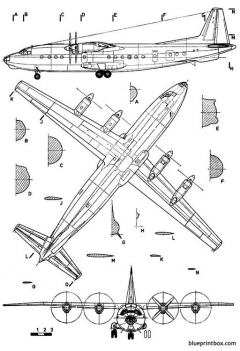 antonov an 10 cat model airplane plan