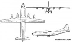 antonov an 12 cub 2 model airplane plan