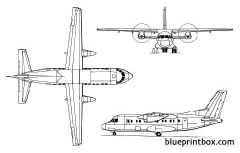 antonov an 140 model airplane plan