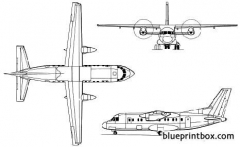 antonov an 140 2 model airplane plan