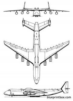 antonov an 225 mrija model airplane plan