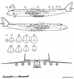 antonov an 225 mriya cossack model airplane plan