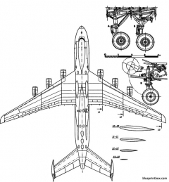 antonov an 225 mriya cossack 2 model airplane plan