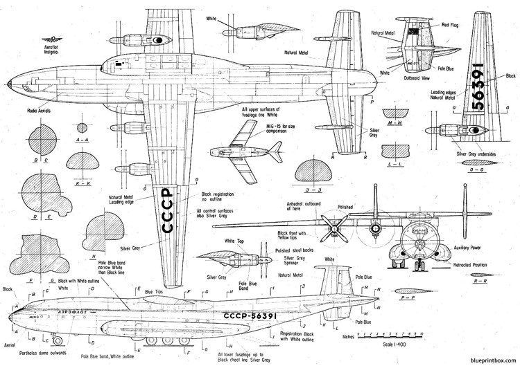antonov an 22 antheus model airplane plan