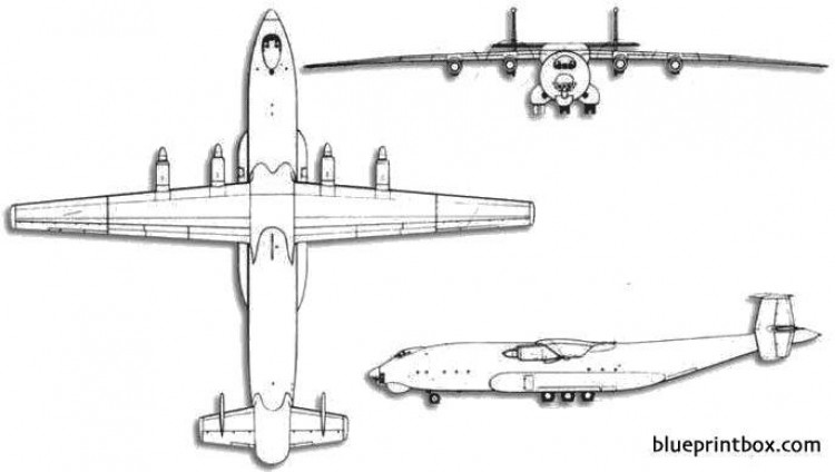 antonov an 22 cock model airplane plan