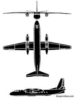 antonov an 24 coke model airplane plan