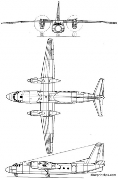 antonov an 24v model airplane plan