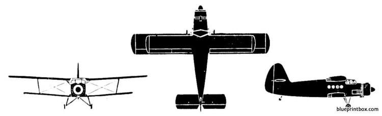 antonov an 2 colt model airplane plan