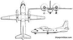 antonov an 32 cline 2 model airplane plan