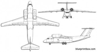 antonov an 72a coaler model airplane plan