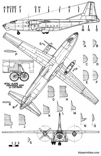 antonov an 8 camp model airplane plan