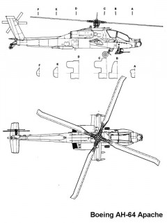 apache 2 3v model airplane plan