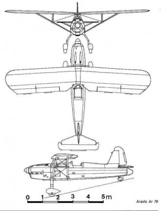 ar76 3v model airplane plan