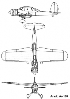 arado198 3v model airplane plan