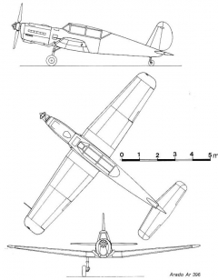 arado396 3v model airplane plan