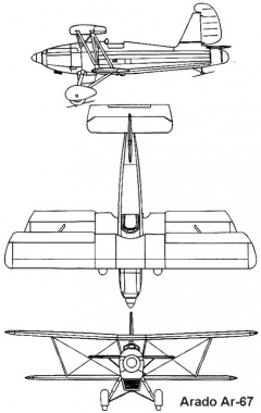 arado67 3v model airplane plan