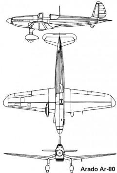 arado80 3v model airplane plan