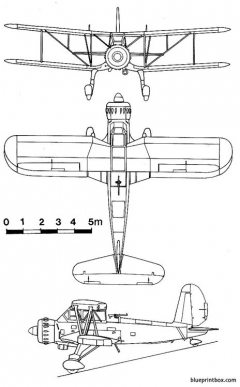 arado ar 195 model airplane plan