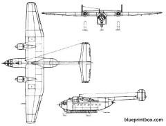 arado ar 232 model airplane plan