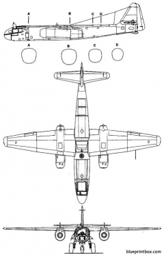 arado ar 234 blitz model airplane plan