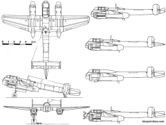 arado ar 240 model airplane plan