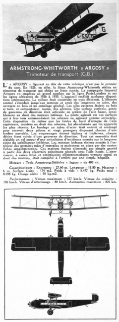 armstrong model airplane plan