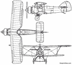 armstrong whitworth atlas 1925 england model airplane plan