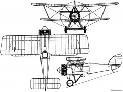 armstrong whitworth siskin v 1925 england model airplane plan