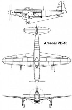 arsenal vb10 3v model airplane plan