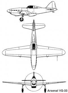 arsenal vg33 3v model airplane plan