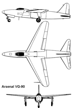 arsenal vg90 3v model airplane plan
