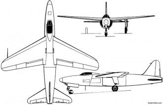 arsenal vg 90 1949 france model airplane plan