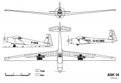 ask14 3v model airplane plan