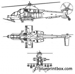 atlas ch 2 rooivalk combat helicopter model airplane plan