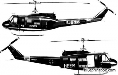 augusta bell 205 uh 1d model airplane plan