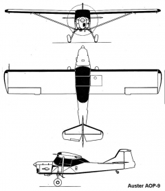 auster aop9 3v model airplane plan
