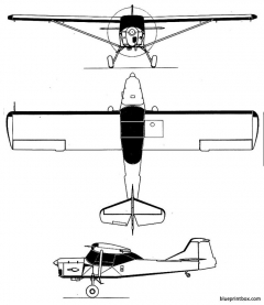 auster aop 9 2 model airplane plan