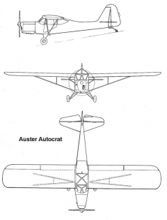 auster autocrat 3v model airplane plan