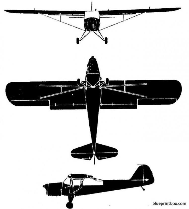 auster mk 6 model airplane plan