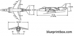 av8b model airplane plan