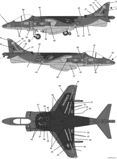 av 8b harrier model airplane plan