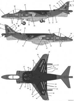 av 8b harrier model airplane plan